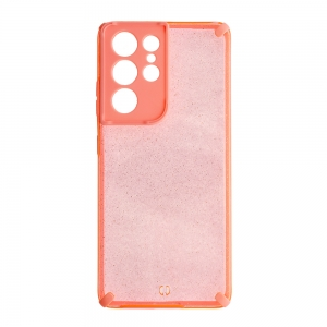 Удароустойчив калъф Armor Glitter за Samsung Galaxy S21 Ultra, Розов
