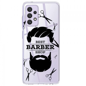 Силиконов калъф ArtDesign за Samsung Galaxy A72, Barber