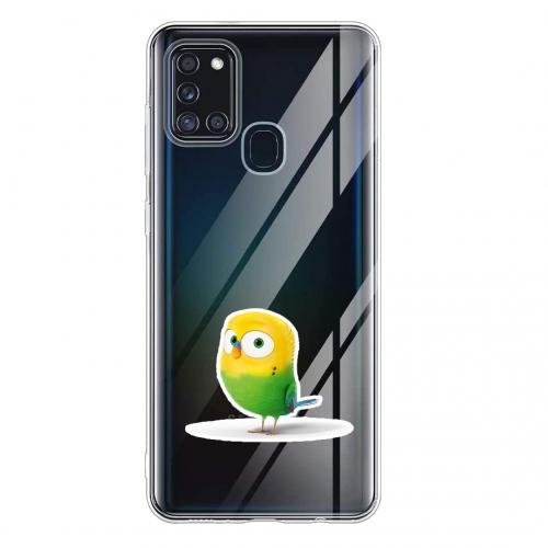 Силиконов калъф Color за Samsung Galaxy A21s, Папагал