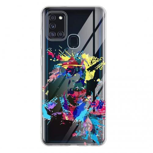 Силиконов калъф Color за Samsung Galaxy A21s, Art Мъж