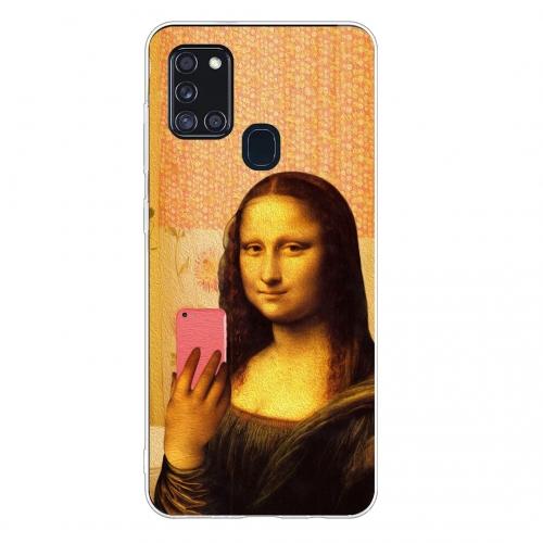 Силиконов калъф Color за Samsung Galaxy A21s,Селфи Мона Лиза