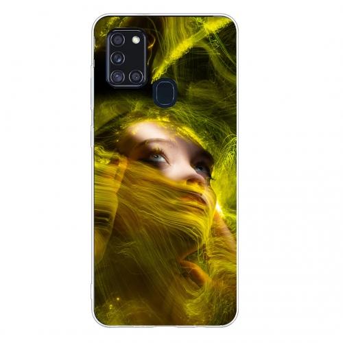 Силиконов калъф Color за Samsung Galaxy A21s, Светлина