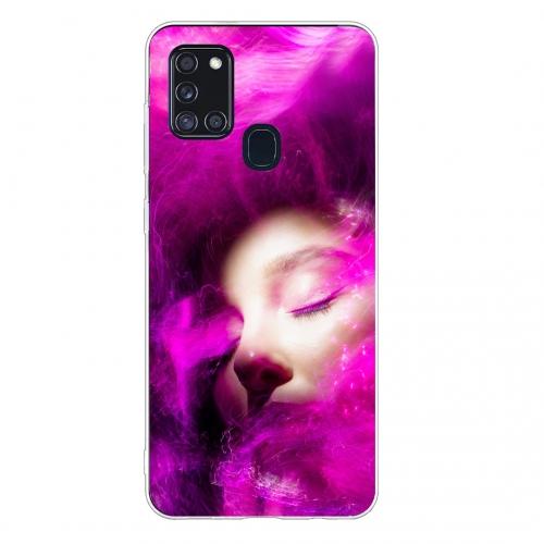 Силиконов калъф Color за Samsung Galaxy A21s, Розови сънища