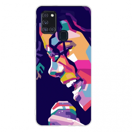 Силиконов калъф Color за Samsung Galaxy A21s, Art Майкал