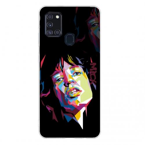 Силиконов калъф Color за Samsung Galaxy A21s, Мик Джагър