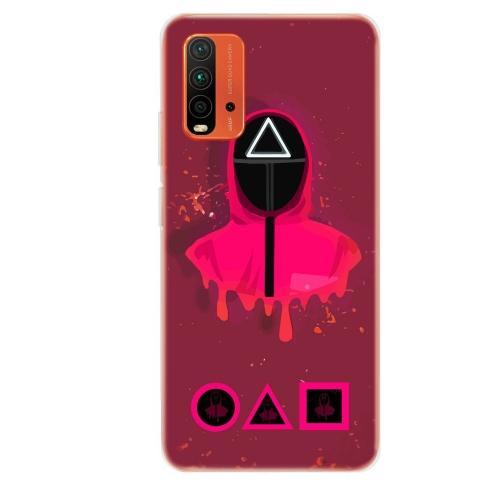 Силиконов калъф ArtDesign за Xiaomi Redmi 9T, Pink Squid Game