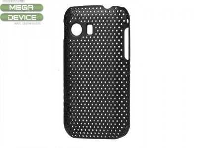 Samsung Galaxy Y S5360 Mesh Hole Hard Case Cover, Black