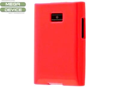 СИЛИКОНОВ ПРОТЕКТОР ЗА LG E400 OPTIMUS L3 - RED