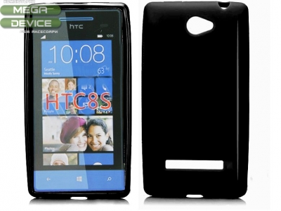 СИЛИКОНОВ ПРОТЕКТОР ЗА HTC 8S WINDOWS PHONE - BLACK
