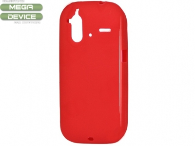 СИЛИКОНОВ ПРОТЕКТОР ЗА HTC G22 AMAZE 4G - RED