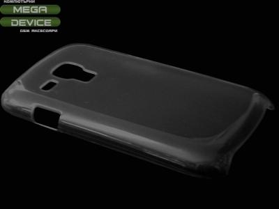 ПРОЗРАЧЕН PVC ГРЪБ ЗА SAMSUNG i8190 GALAXY S3 MINI - BLACK