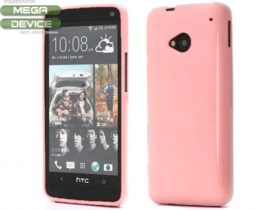 СИЛИКОНОВ ПРОТЕКТОР ЗА HTC ONE M7 - PINK