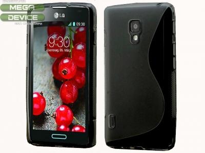 СИЛИКОНОВ ПРОТЕКТОР ЗА LG P710 OPTIMUS L7 II - BLACK