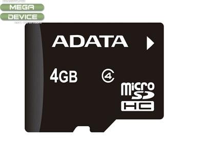 MICRO SDHC 4GB  ADATA CLASS 4