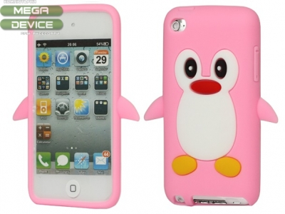 SILICON PROTECTOR FOR iPod 4 4G 4TH GEN PENGUIN - LIGHT PINK