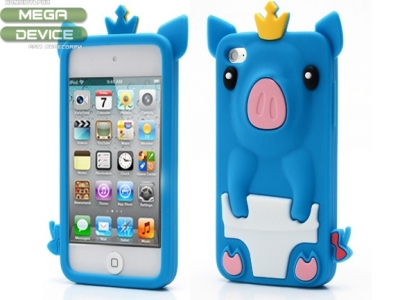 Silicon protector for iPod Touch 4 PIGLET - BLUE
