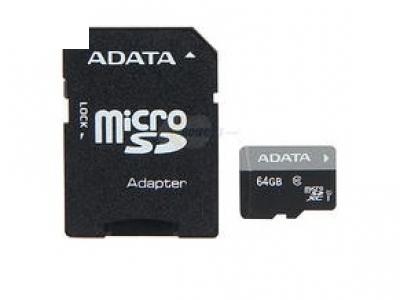 MICRO SDHC+ADAP 64GB ADATA UHS-I CLASS10