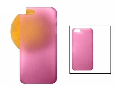 ПРОЗИРАЩ МАТИРАН PVC ГРЪБ ЗА iPhone 5 - DARK PINK